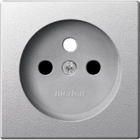 Central plate for socket-outlet insert with pin earth, Aluminium