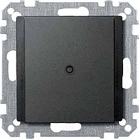 Central plate with cable outlet for telephone connector VDo 4, Anthracite