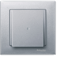 Central plate with cable outlet for telephone connector VDo 4, Aluminium