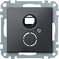 Carrying frame with central plate for inserts in line with DIN 41524, Anthracite