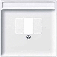 Central plate with square opening, Polar White