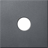Central plate for Antenna TV/SATSocket 1 output, Anthracite