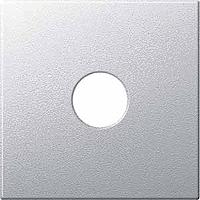 Central plate for Antenna TV/SATSocket 1 output, Aluminium