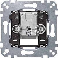 Antenna single socket-outlet insert, 2 outputs R/TV+SAT