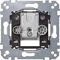 Antenna socket-outlet, 2-gang (TV+FM), Through line socket-outlet