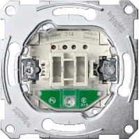 One-way switch insert 1 pole with indicator light, 10 AX, AC 250 V, screwless terminals
