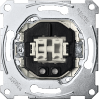 Two-circuit switch insert 1 pole with indicator light, 10 AX, AC 250 V, screwless terminals