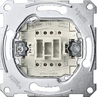 One-way switch insert 2 pole, 10 AX, AC 250 V, screwless terminals