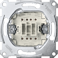 One-way switch insert 1 pole with separate signalling contact, 10 AX, AC 250 V, screwless terminals
