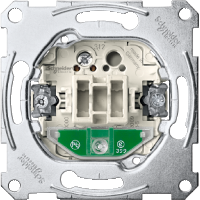 One-way switch insert 1 pole with indicator light 16 AX, 250 V AC , screw terminals with lift clamp
