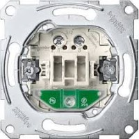 One-way switch insert 2 pole with indicator light, 16 AX, 250 V AC , screw terminals with lift clamp