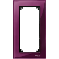 M-Elegance real glass frame, 2-gang, without central bridge piece, Ruby red