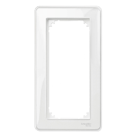 M-Creative real glass frame, 2-gang, without central bridge piece, Transparent, glossy