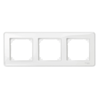 M-Creative real glass frame, 3-gang, Transparent, glossy