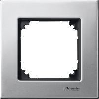 M-Elegance metal frame, 1-gang, Platinum silver