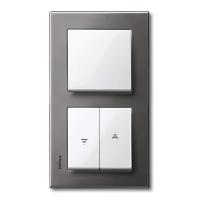 M-Elegance metal frame, 2-gang, Rhodium grey