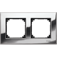 M-Elegance metal frame, 2-gang, Chrome