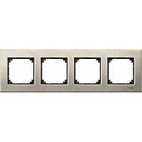M-Elegance metal frame, 4-gang, Titanium