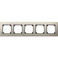 M-Elegance metal frame, 5-gang, Titanium