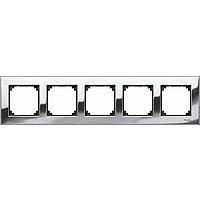 M-Elegance metal frame, 5-gang, Chrome