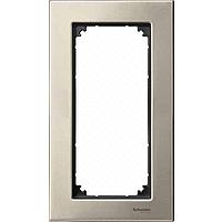 M-Elegance metal frame, 2-gang, without central bridge piece, Titanium