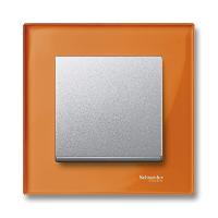 M-Elegance real glass frame, 1-gang, Calcite orange