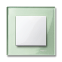 M-Elegance real glass frame, 1-gang, Emerald green
