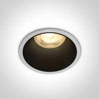 10105AD/W WHITE GU10 50W BLACK REFLECTOR DARK LIGHT