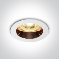 10105M/W/CU WHITE GU10 10W COPPER REFLECTOR DARK LIGHT