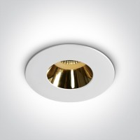 10105MD/W/GL WHITE GU10 10W GOLD REFLECTOR DARK LIGHT