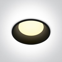 10109D/B/W BLACK LED 9w WW IP20 230V DARK LIGHT