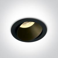 11105M/B/B BLACK GU10 10W BLACK REFLECTOR DARK LIGHT ADJUSTABLE