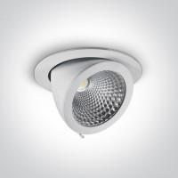 11130F/W/W WHITE COB LED 30w WW 55d IP20 230v