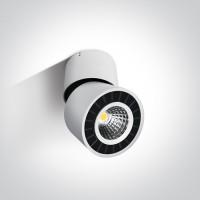 12112LA/W/W WHITE CEILING SPOT LED 12w WW IP20 ADJUSTABLE 230v