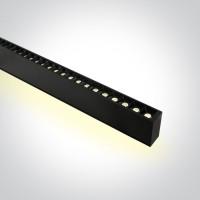 38150BU/B/W BLACK 48pcs SPOTS 40W 34d UGR17 + UPLIGHT LED 20W 120d WW 1300mm LINEAR 230V DARK LIGHT