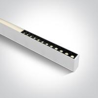 38150C/W/W WHITE 24pcs SPOTS + DIFFUSER UGR19 LED 40W WW 1200mm LINEAR 230V