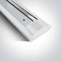 38236D/W WHITE EMPTY FOR 2x T8 LED TUBE 120cm