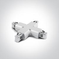 41018/W WHITE X CONNECTOR
