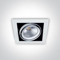 51120/W/W WHITE COB LED 20W WW 36deg 230V