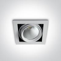 51120B/W/W WHITE COB LED 20w WW 36d IP20 230v