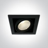 51130/B/W BLACK COB LED 30W WW 38deg 230V