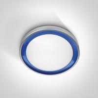 62010/G/BL GREY LED 11W BLUE RING 230v