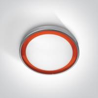 62010/G/OR GREY LED 11W ORANGE RING 230v