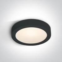 62130F/B/W BLACK PLAFO LED 30w WW IP40 230v