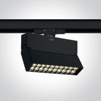 65020T/B/C BLACK LED 20W CW TRACK SPOT 24deg 230V