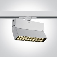 65020T/W/W WHITE LED 20W WW TRACK SPOT 24deg 230V