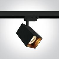 65105NAT/B BLACK GU10 10W TRACK SPOT DARK LIGHT SQUARE