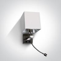 65138/MC/W BRCHR LED 3w WW + E27 40w WHITE SHADE 100-240v