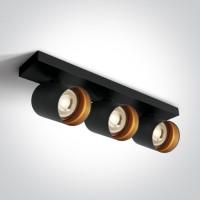 65305N/B BLACK GU10 3x10W DARK LIGHT
