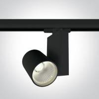 65611NT/B/C BLACK COB LED 15W CW TRACK SPOT 230V